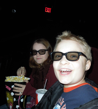Getting ready for some 3D action on J.R.R. Tolkein Day with The Hobbit!