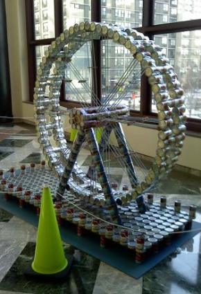 Art For The Food Kitchen:Canstruction