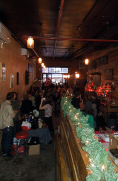 Holidays are festive at Pine Box Rock Shop, when the Vegan Pop-Up Market comes to Bushwick.