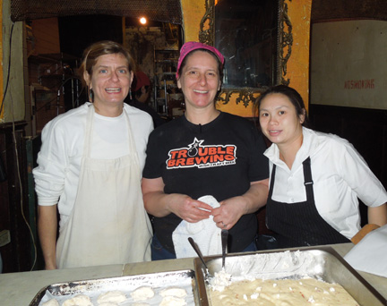 Patti Jackson (center) and her team at January's Iberian Beer & Spanish Tapas Dinner. You can read more about the dinner here.