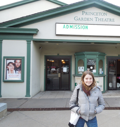 Nadia at the Admission screening in Princeton. They later rolled out a red carpet.