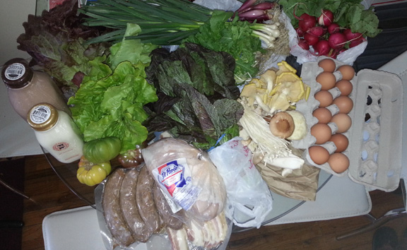 If I had gone to a regular store for all this food, it would have set me back at least twice what I spent at the market!